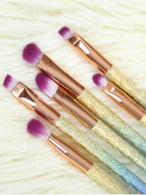 Ensemble de pinceau de maquillage yeux brillants - Or Rose  Mobile