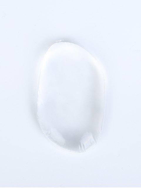 latest Oval Silicone Makeup Sponge - TRANSPARENT  Mobile
