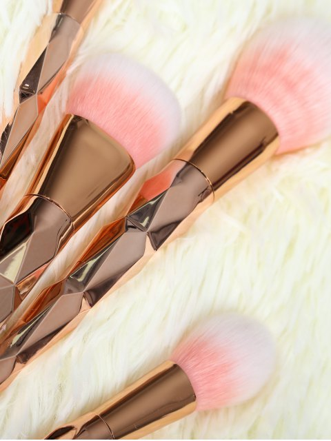 trendy 7 Pcs Rhombus Makeup Brushes Set - ROSE GOLD  Mobile