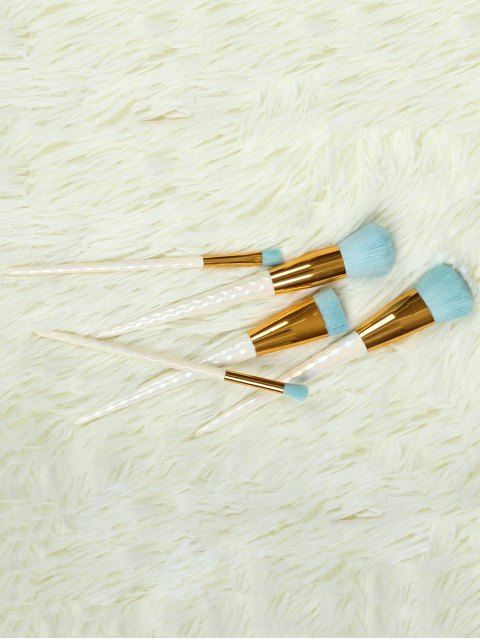fancy 5 Pcs Makeup Brushes Set - WHITE  Mobile