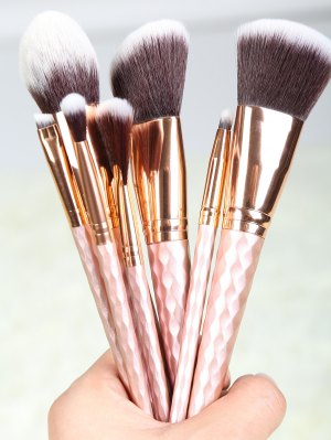 8 Pcs Makeup Brushes Set - Rose Gold