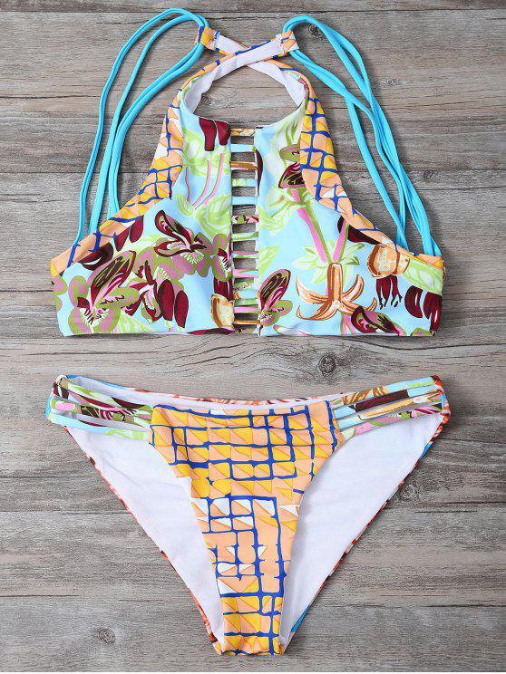 Impreso de tiras del bikini Set - Colormix S