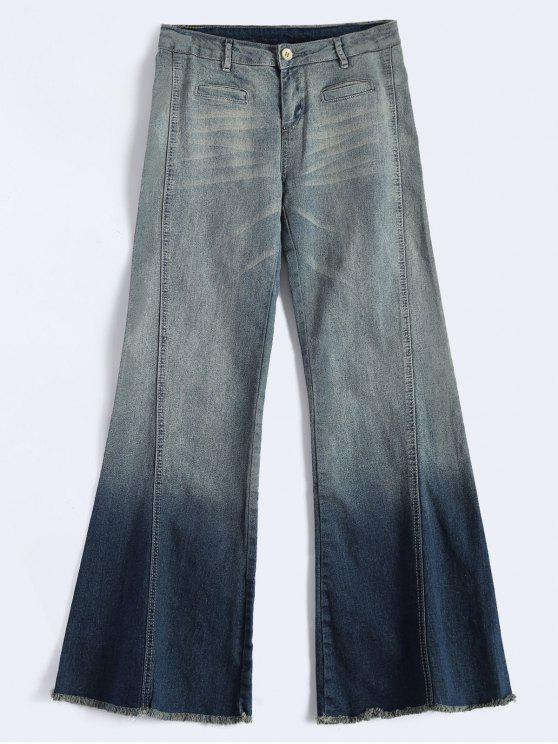shop Bell Bottom Jeans - BLUE XL