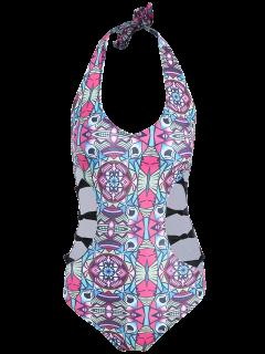 Neutraler Halter Patterned Swimwear - M