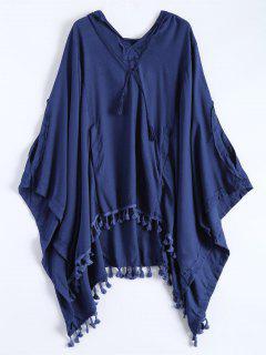 Hooded The Endless Poncho - Deep Blue M