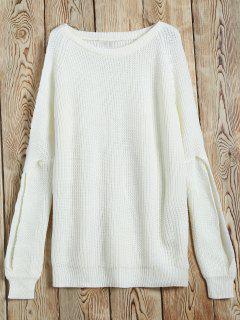 Découpez Out Côtelé Sweater - Blanc S