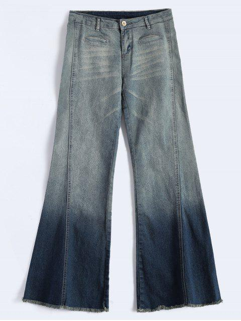 shop Bell Bottom Jeans - BLUE XL Mobile