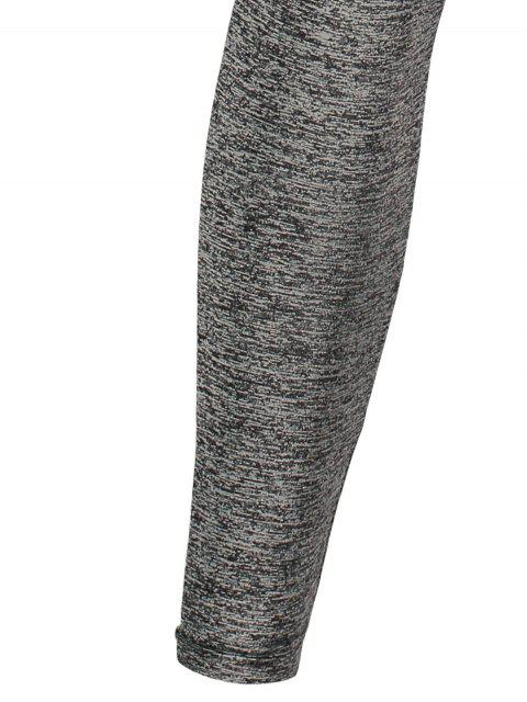 outfits Space Dyed Color Spliced Leggings -   Mobile