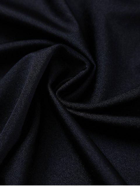 Off The Shoulder Lace Panel Bodysuit - Noir 2XL Mobile