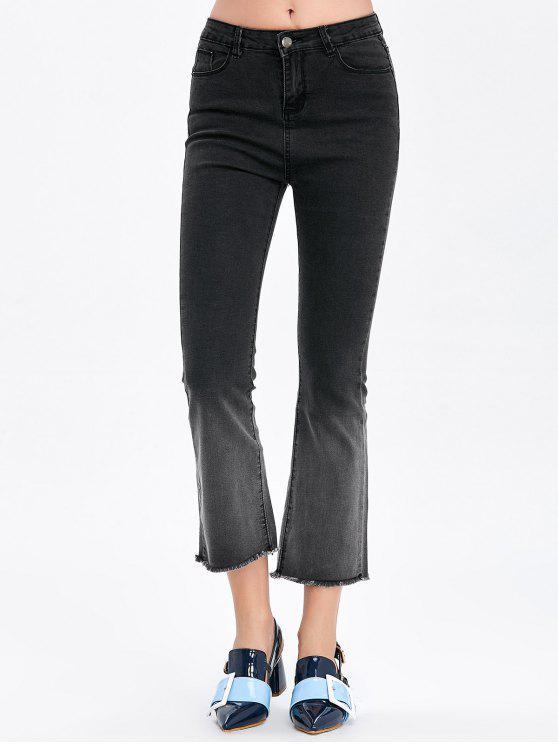 بنطلون جينز مزين بأحجار الكريمة - أسود رمادي 30