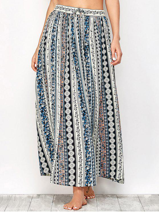harmonious colors popular brand separation shoes Printed Boho Maxi Skirt COLORMIX