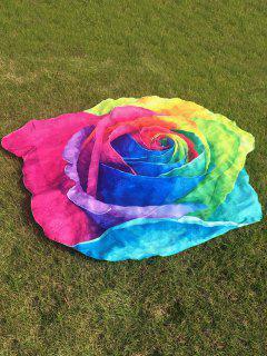 Multicolor Rose Design Beach Throw