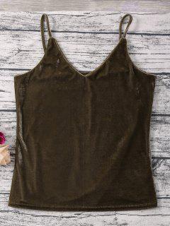 Shimmer Velvet Camisole Top - Brun M