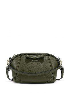 Bowknot Cross Body Handbag - Green