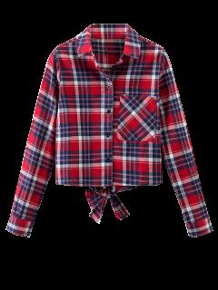 Chemise Nouée à Carreaux - Plaid S