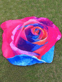 Multicolor Rose Design Beach Throw - Tutti Frutti