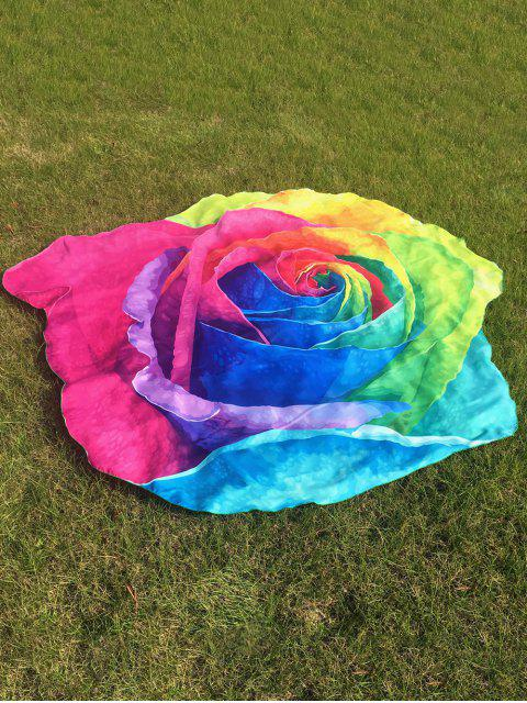buy Multicolor Rose Design Beach Throw - COLORFUL ONE SIZE Mobile