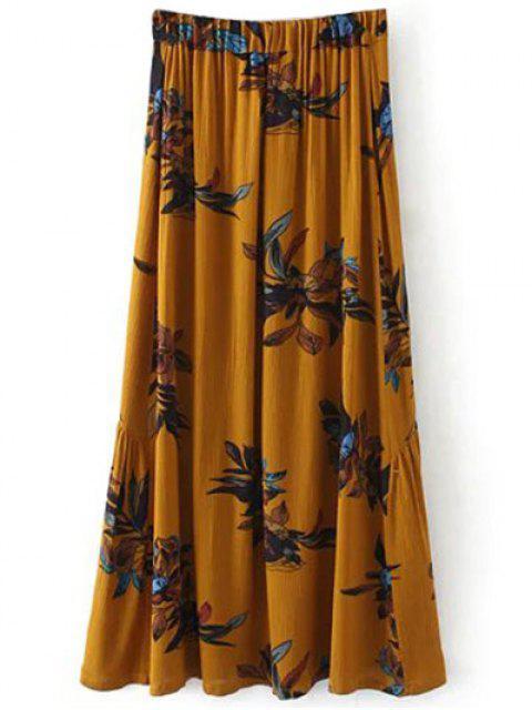 hot Boho Floral Single-Breasted Maxi Skirt - GINGER L Mobile