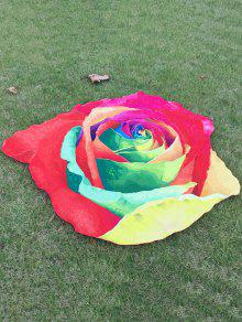 Serviette De Plage Imprimé Rose Multicolore - Rouge