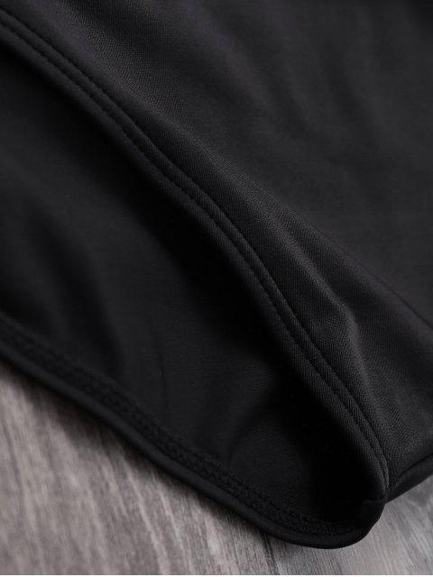 Maillot Bandeau Taille Haute à Carreaux - Noir M Mobile