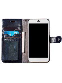 فو جلد الوجه المحفظة القضية مع فتحة بطاقة لفون - ازرق غامق على اي فون 7