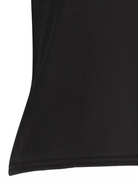 women Black Cutout Off The Shoulder Cropped T-Shirt - BLACK ONE SIZE Mobile