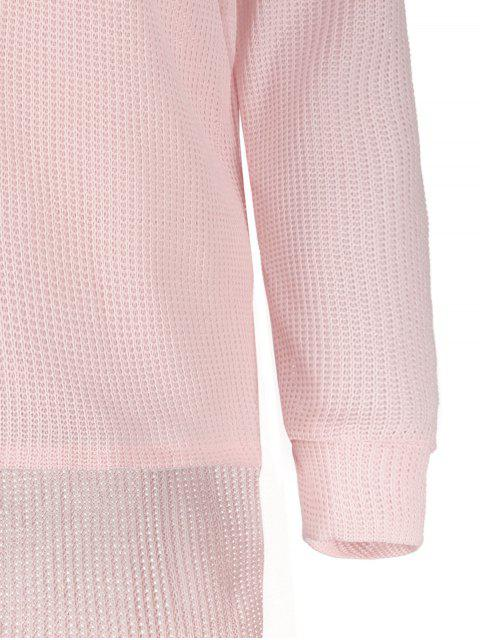 Pull ample à une épaule - ROSE PÂLE S Mobile