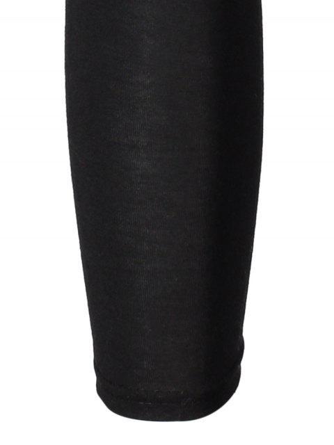 chic Hipster Slimming Leggings - BLACK ONE SIZE Mobile