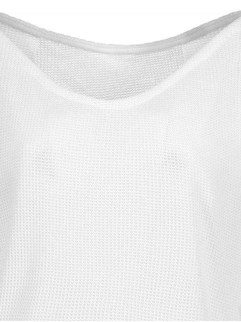 women Loose One-Shoulder Sweater - WHITE S Mobile