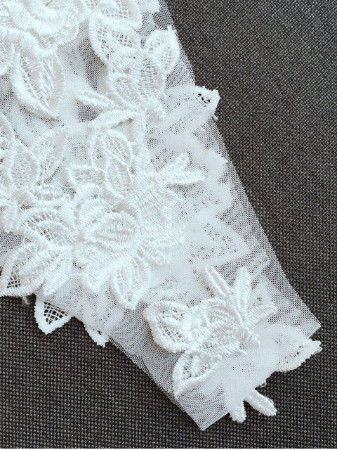 latest Lace Hollow Out Cami Bra Set - WHITE S Mobile