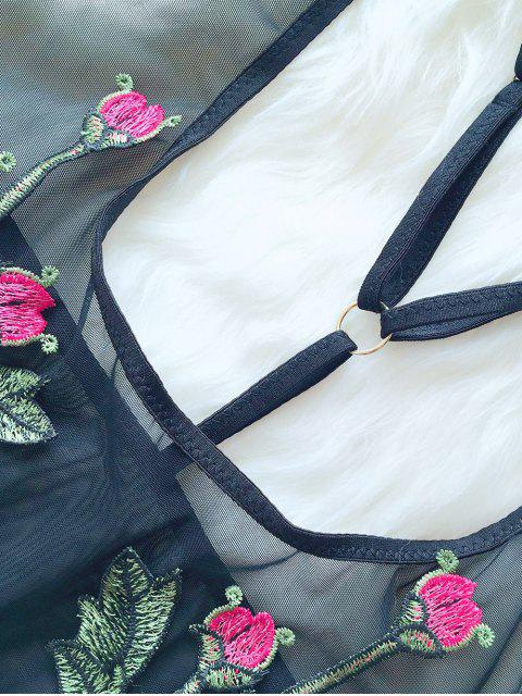 shops See-Through Floral Teddies - BLACK L Mobile