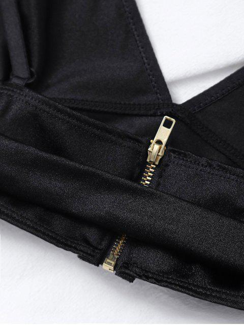 best Stretchy Front Hook Bra - BLACK M Mobile