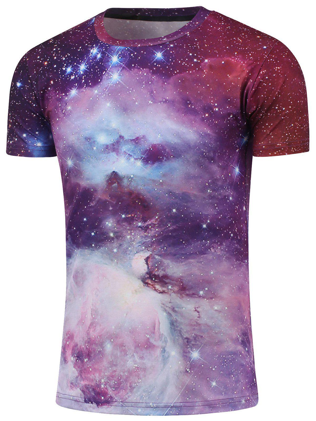 Ras du cou à manches courtes Galaxy T-shirt