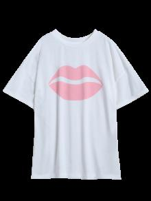 imprimer t shirt oversize blanc t shirts s zaful. Black Bedroom Furniture Sets. Home Design Ideas