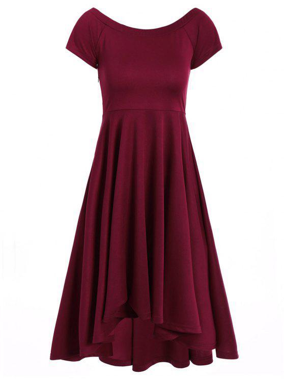 1d628adb19a9 24% OFF  2019 Asymmetric Off-The-Shoulder Semi Formal Swing Dress In ...