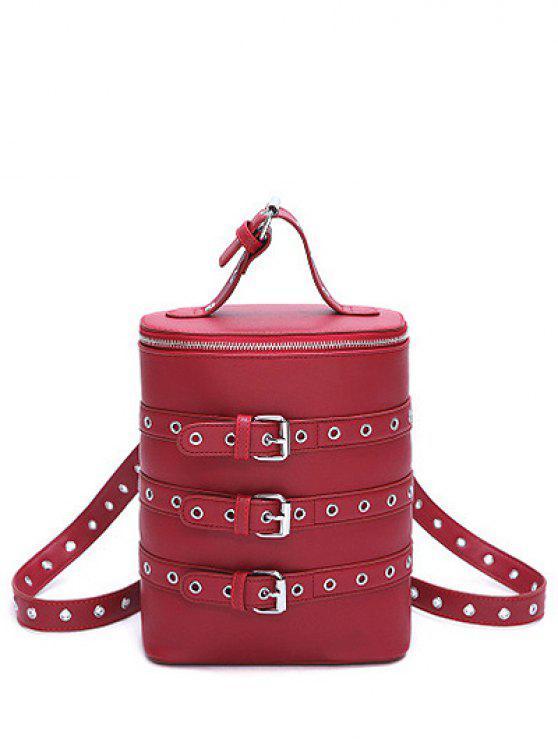 Ojales de hebilla de las correas de mochila convertible - Vino Rojo