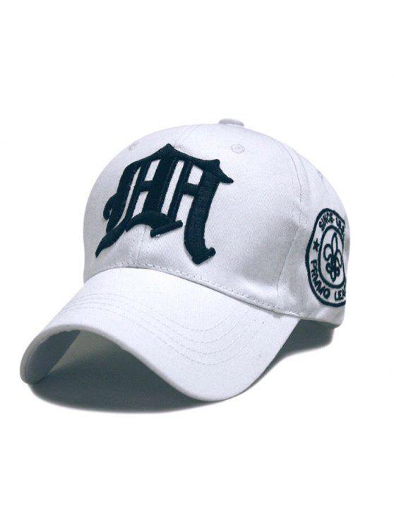 casquette de baseball en broderie gothique - Blanc