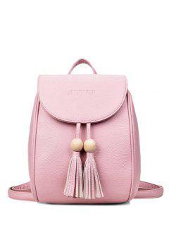 Holz Perlen Quaste Rucksack - Pink