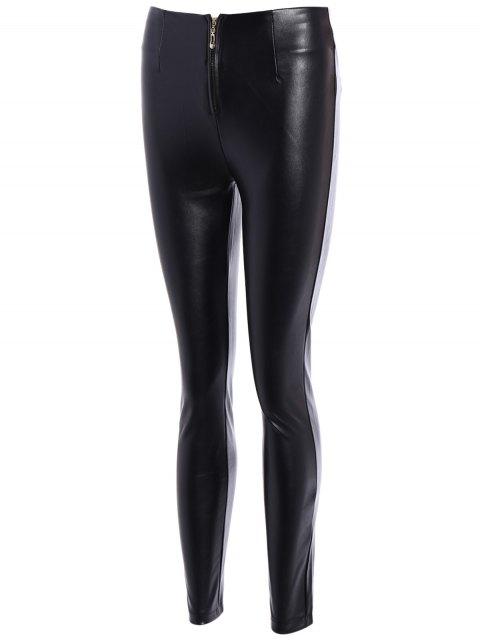 chic Pencil PU Pants - BLACK 3XL Mobile