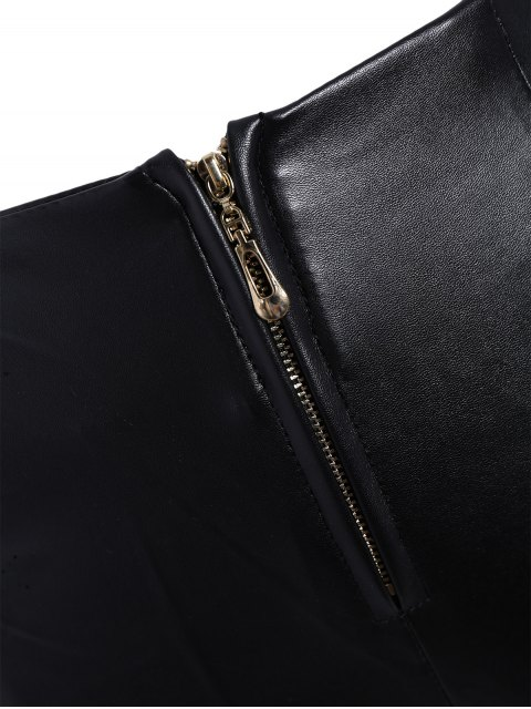 sale Pencil PU Pants - BLACK L Mobile