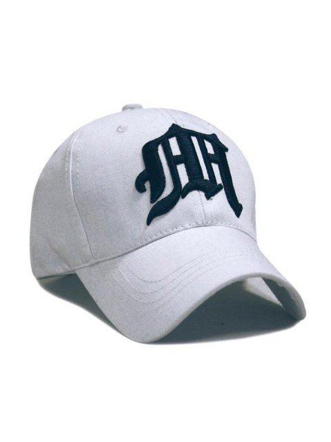outfit Gothic Embroideried Baseball Hat - WHITE  Mobile