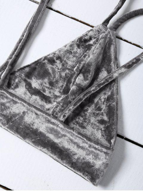 latest Pleuche Camisole - GRAY XL Mobile