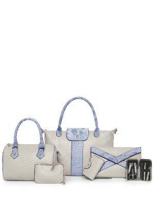 Snake Geprägte 6PCS Handbag Set