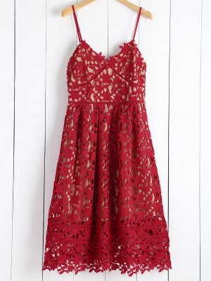 Cami Cut Out Scalloped Midi Dress