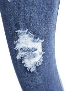 gebleichte enge zerrissene jeans blau jeans l zaful. Black Bedroom Furniture Sets. Home Design Ideas