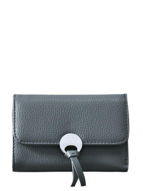 fancy Metal Embellished Tri Fold Small Wallet -   Mobile