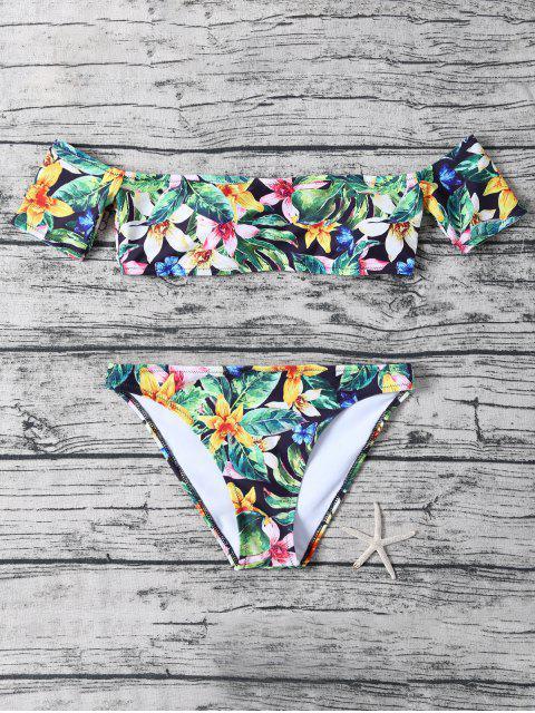 shop Floral Off The Shoulder Bikini - FLORAL L Mobile