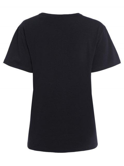 buy Streetwear Jewel Neck Queen Crown T-Shirt - BLACK S Mobile