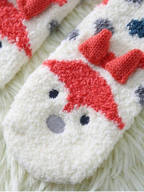 Chaussettes peluchées à motif de renard de cartoon - Blanc  Mobile