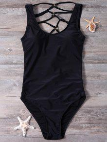 c561bcbfd67 22% OFF  2019 Strappy Cut Out Sexy One Piece Bathing Suit In BLACK ...